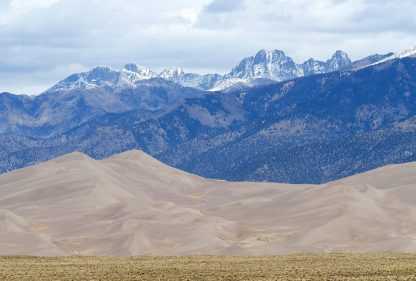 Grand Sand Dunes National Park, Colorado, iconic nature postcard