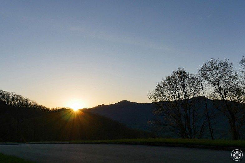 Sunset over Blue Ridge Parkway