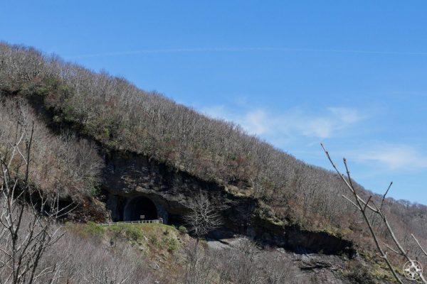 Craggy Pinnacle Tunnel, Blue Ridge Parkway, cuts through rocky mountain