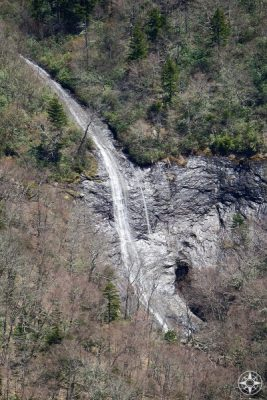 Glassmine Falls, visible from Mountains-To-Sea Trail, North Carolina.