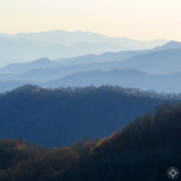 The Blue Ridge Mountains were named for a reason, blue, ridges