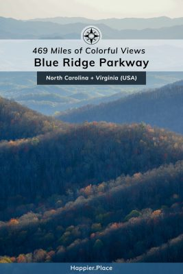 469 miles of colorful views, Blue Ridge Parkway, North Carolina, Virginia