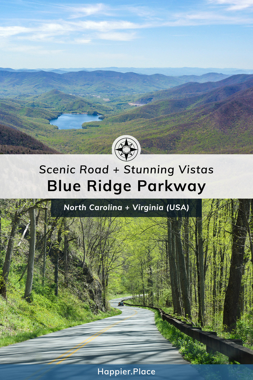 Scenic Road and Stunning Vistas: Blue Ridge Parkway - from Virginia to North Carolina.