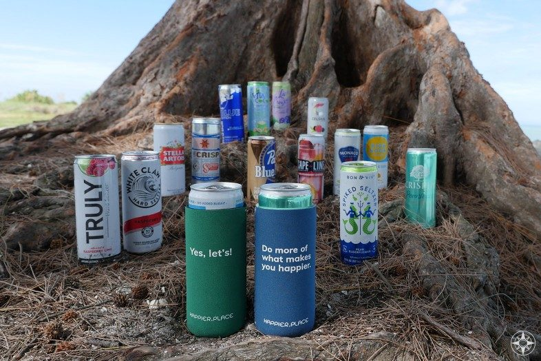 Neoprene can insulator sleeve for all the sleek, skinny, slim cans, hard, spiked, energy, fruit, sparkling, seltzer, soda, cider, beer