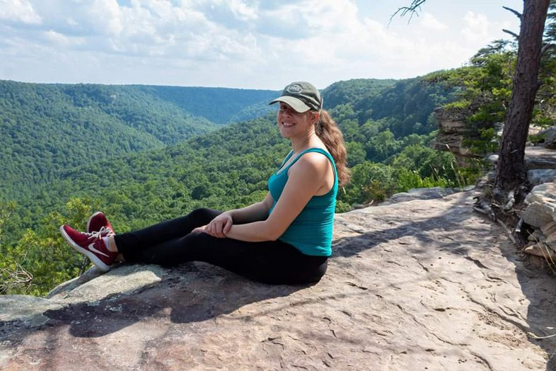 Jessica Tejera, the Walking Mermaid, Stone Door Overlook, South Cumberland State Park, Savage Gulf, Tennessee