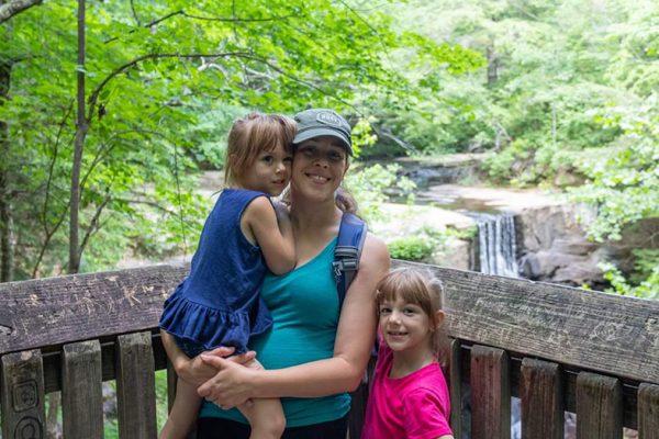 Jessica, Walking Mermaid, and her children chasing waterfalls.