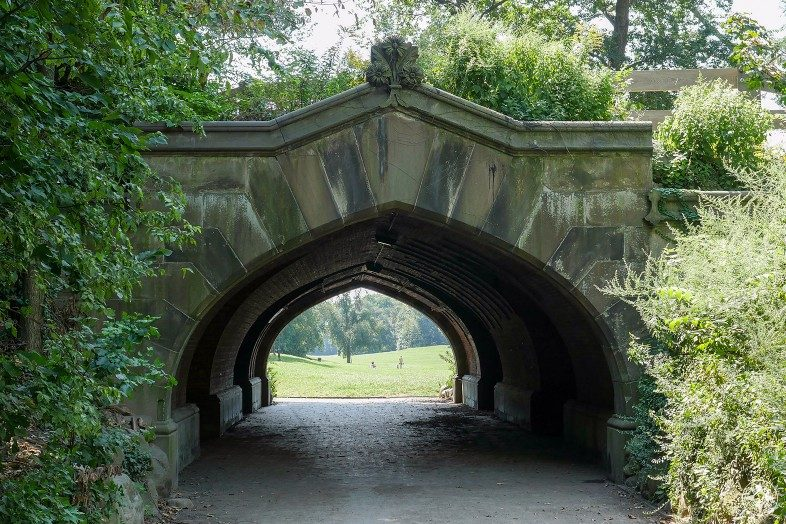 Prospect Park, Brooklyn, Endale Arch, bridge, tunnel to Long Meadow from Grand Army Plaza, Happier Place