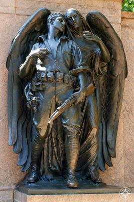 Dark angel and soldier, War Memorial, Prospect Park, Brooklyn