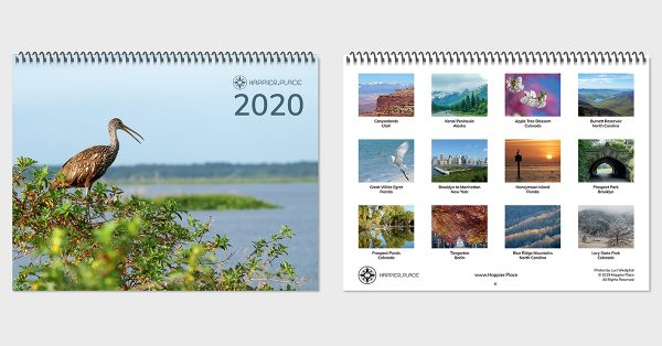 Happier Place 2020 Nature Photography Monthly Wall Calendar