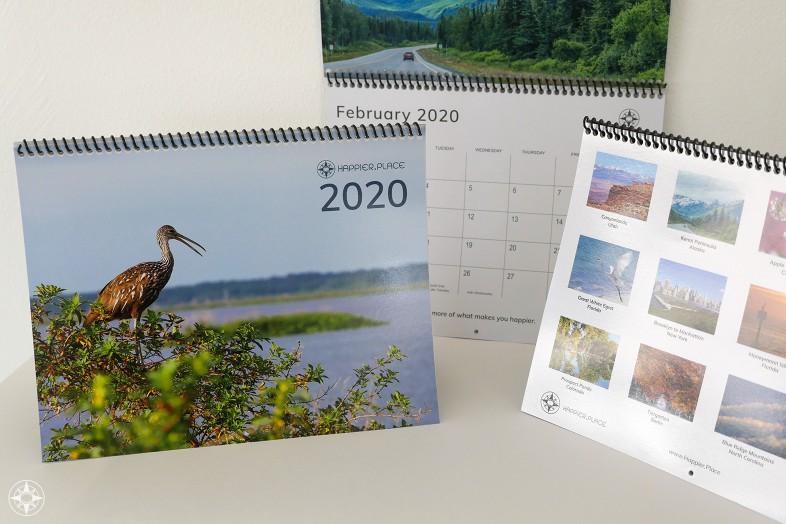 2020 Happier Place Calendar, nature photography, wall calendar, happier inspiration