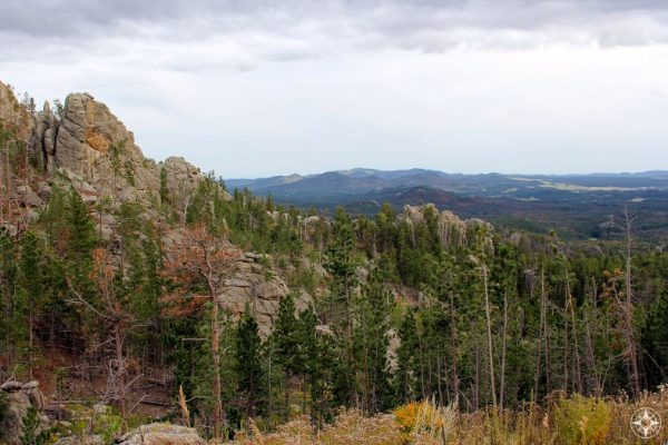Black Hills National Forest, South Dakota, valley view from Custer State Park