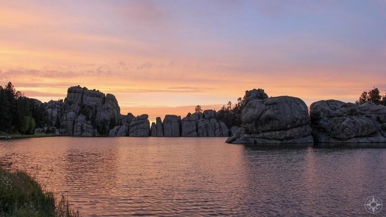 Sylvan Lake, Needles Highway, Custer State Park, South Dakota, Sunset, HappierPlace