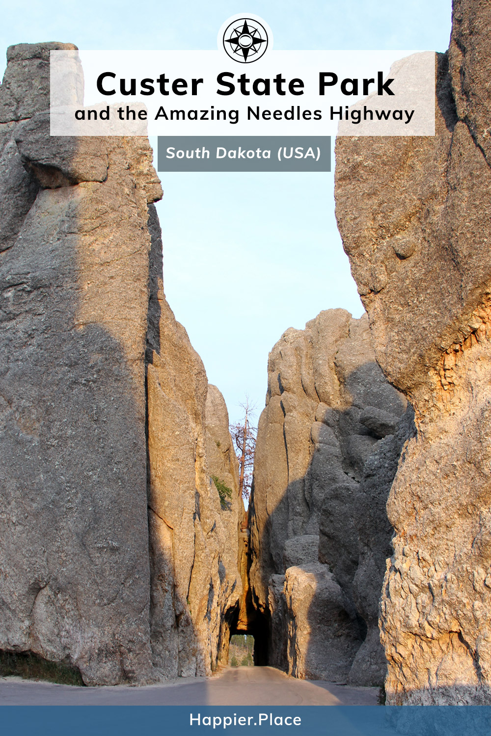 Needles Eye Tunnel of the Amazing Needles Highway in Custer State Park, South Dakota, USA. #outdoorguide #travelguide #outdoors #HappierPlace #travel