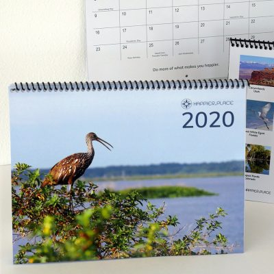 Happier Place calendar, monthly wall calendar, 2020, nature photography