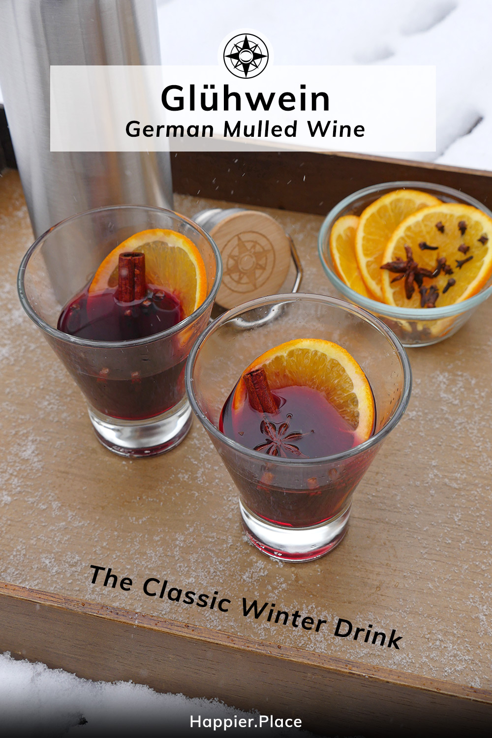 Classic Christmas Drink: Gluehwein - Simple Recipe for German Mulled Wine
