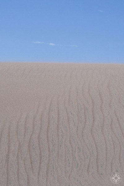 Blowing sand and sand ripples, sand dune, national park, Colorado
