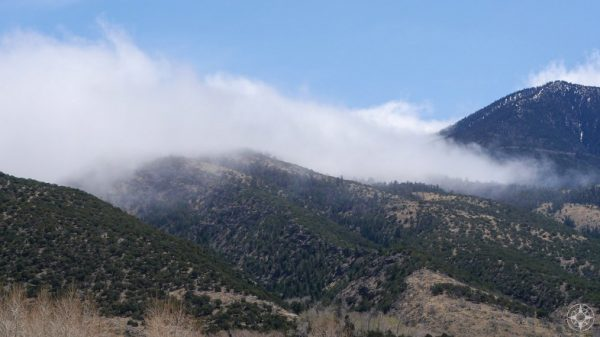 Clouds rolling in from the east over the Sangre de Cristo Mountains in the Great Sand Dunes Preserve