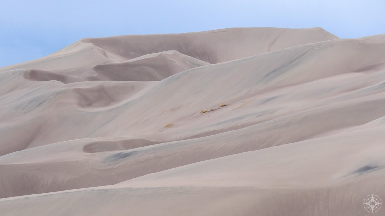 Peaks, valleys, shapes and shadows in the dune field of North America's tallest dunes