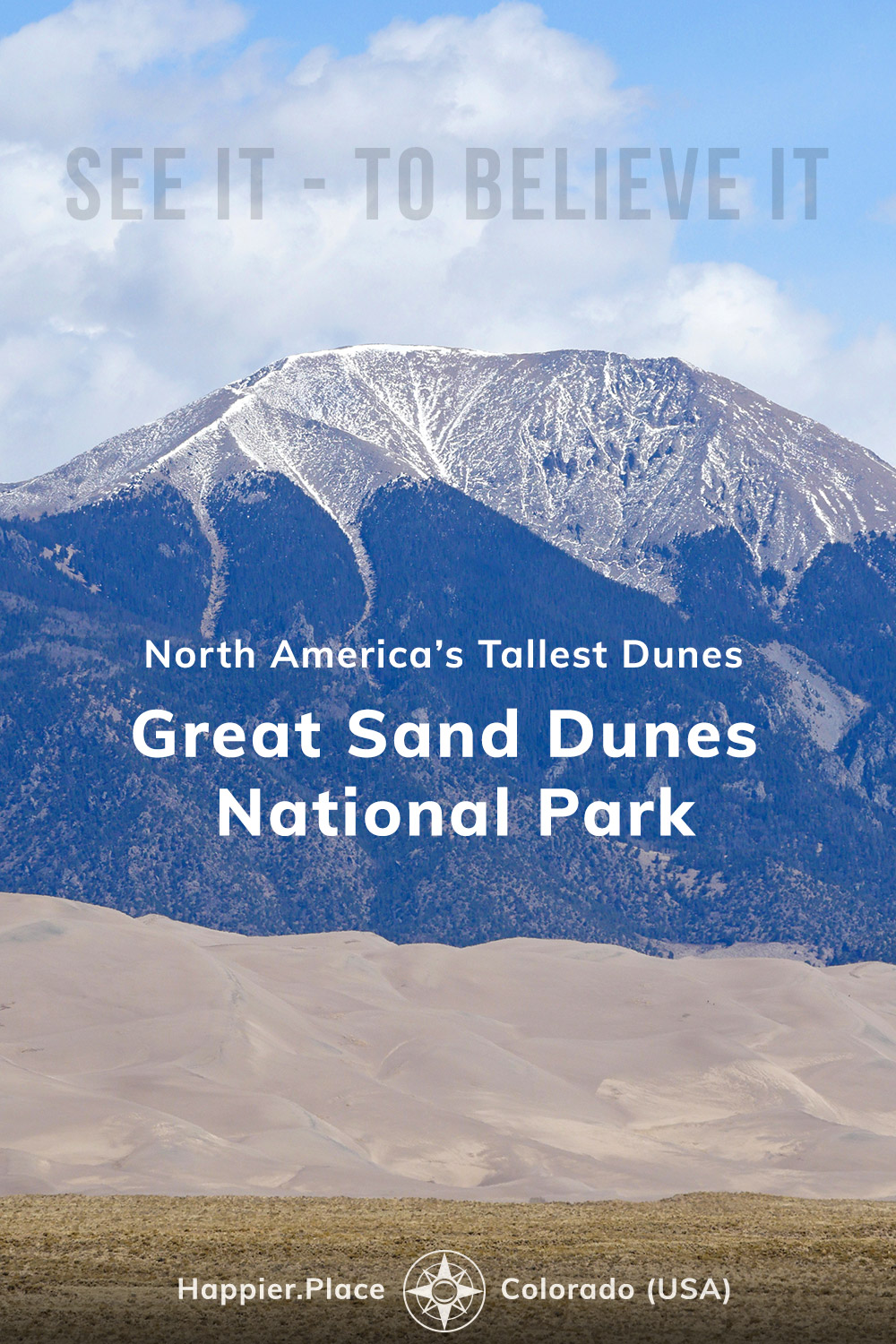 Great Sand Dunes National Park, See it to believe it, North America's tallest dunes, Colorado, mountains, happierplace