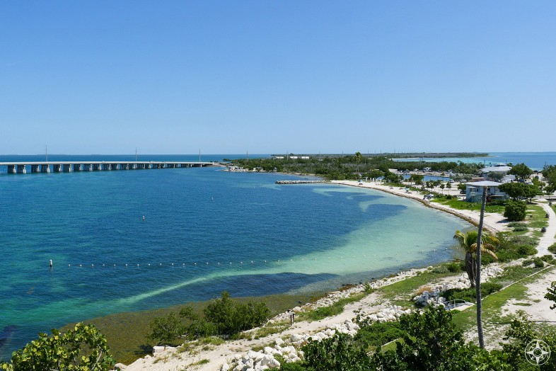 Bahia Honda State Park, Florida Keys, Calusa Beach, Gulf of Mexico, Bahia Honda Bridge and marina
