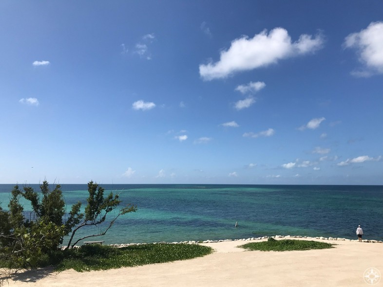 Taking in the vast blue views on the Atlantic Ocean side of Bahia Honda State Park - and leaving behind the noise and party of Key West