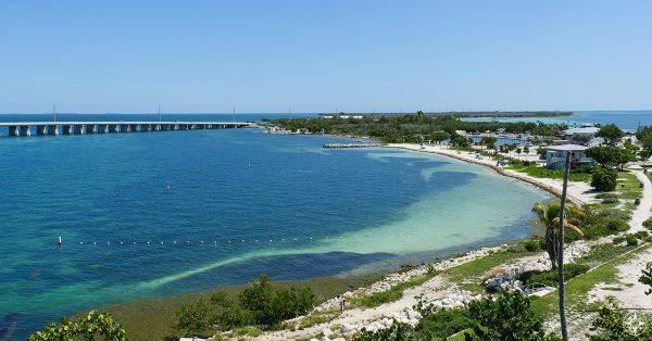 Bahia Honda State Park and Calusa Beach and marina view from Old Bahia Honda Bridge