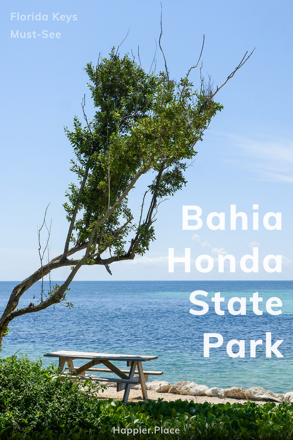 Bahia Honda State Park, Florida Keys, Must-See, beach bench in the shade of tree, picnic table