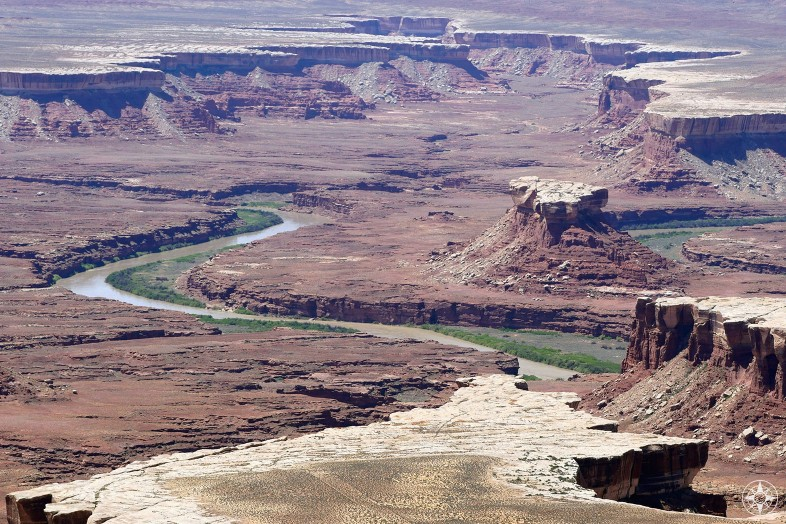 The Green River runs through the lower west section of Canyonlands National Park, outside Moab, Utah.
