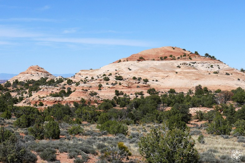 Buttes along Aztec Butte Trail on the Island in the Sky, the highest section of Canyonlands, National Park.