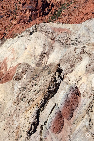 Detail of colorful and otherworldly Upheaval Dome Canyonlands National Park.