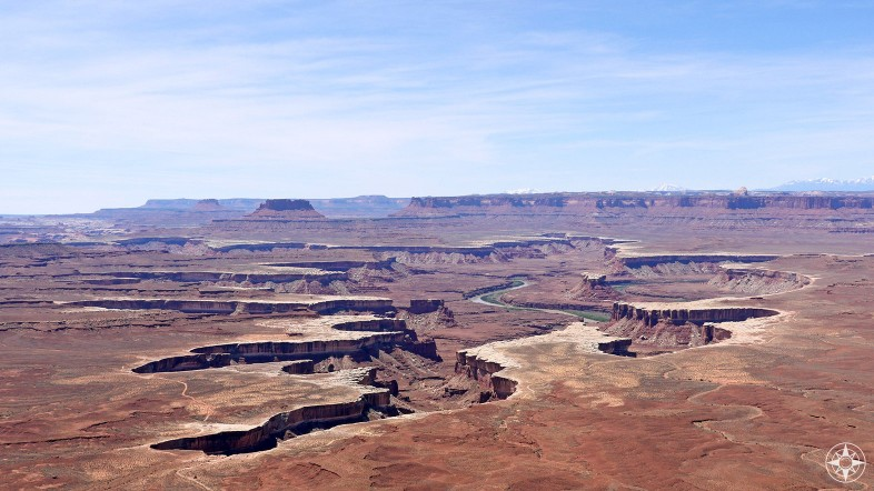 The Green River and The Maze beyond, seen from Island in the Sky - all part of Canyonlands National Park.