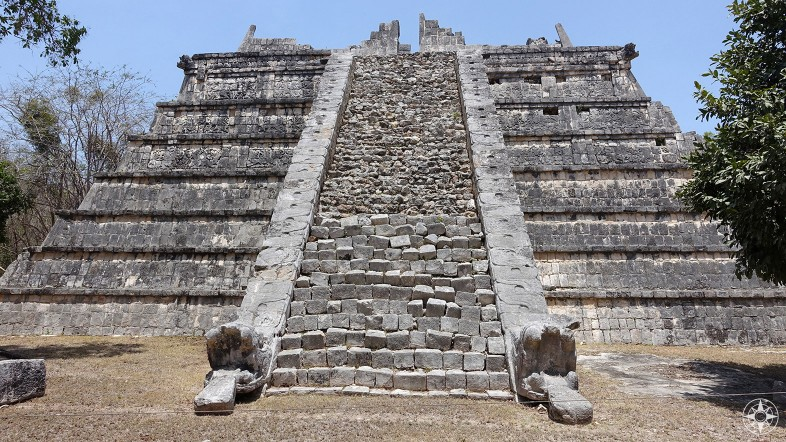 Pyramid with snake decoration, El Osario, The High Priest's Grave, Yucatan