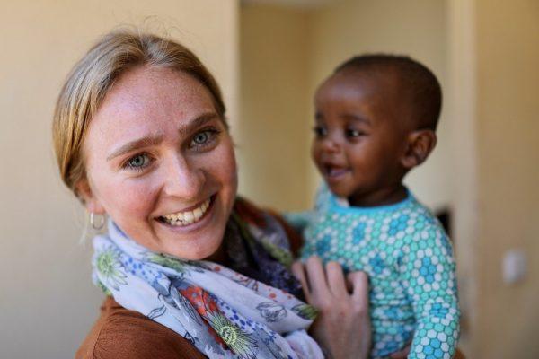 Humanitarian Danielle Bogardus with Ethiopian orphan