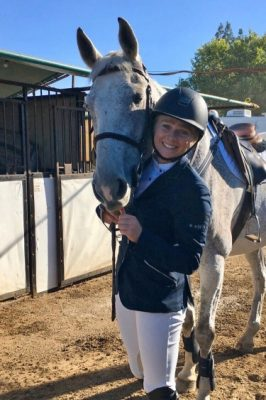 Danielle Bogardus and her horse Andy.