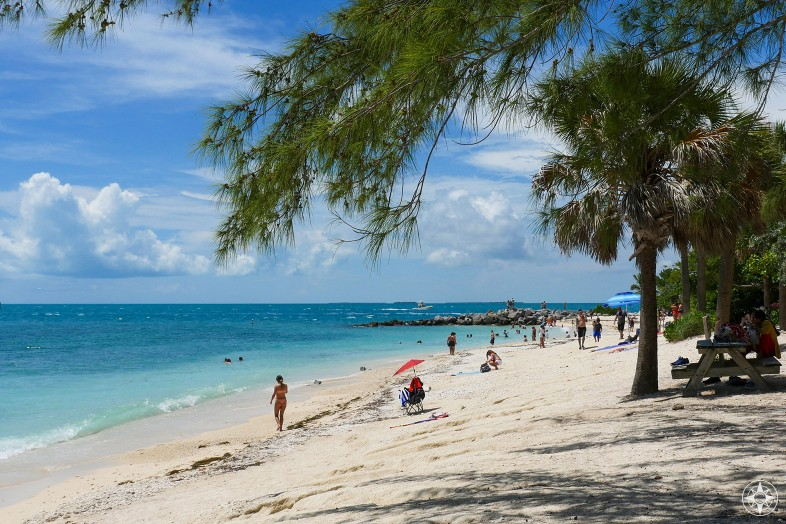 Fort Zachary Taylor Historic State Park beach and shady trees, Key West, Florida, Happier Place