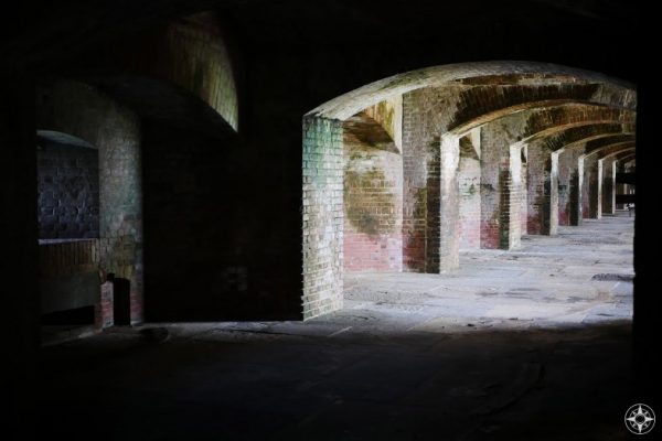 Going dark inside the fort on Key West