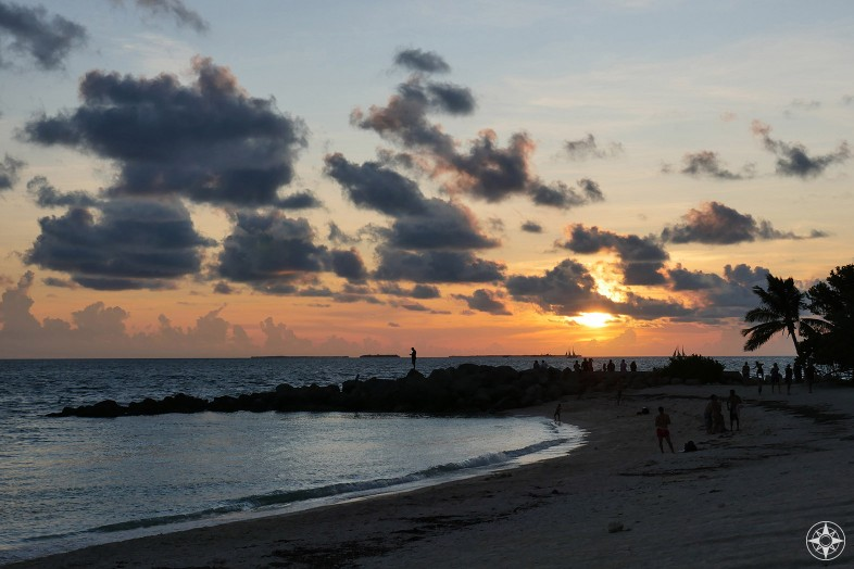 Sunset beach and clouds, Fort Zachary Taylor Historic State Park, Florida State Park, Key West