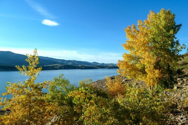 Fall colors at Horsetooth Reservoir near Fort Collins, Colorado - Happier Place