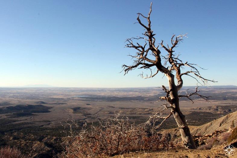 Looking north from the top of Mesa Verde National Park in Colorado.