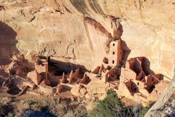 Square Tower House - the tallest cliff dwelling building in Mesa Verde.