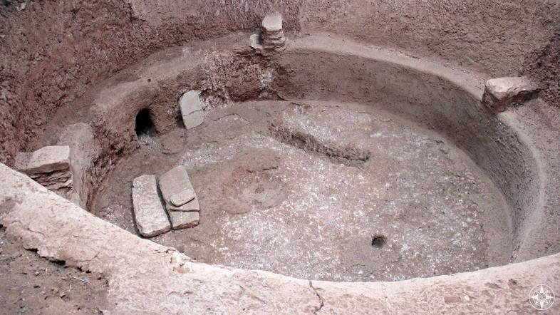 Kiva, an underground ceremonial room built by the Ancestral Pueblo people in Mesa Verde, Colorado.
