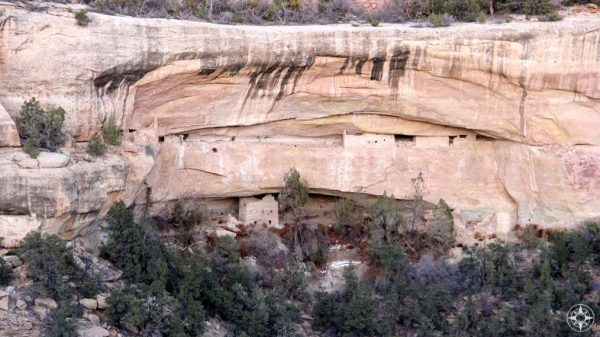 A closer look at the cliff dwellings in Mesa Verde National Park, Colorado.