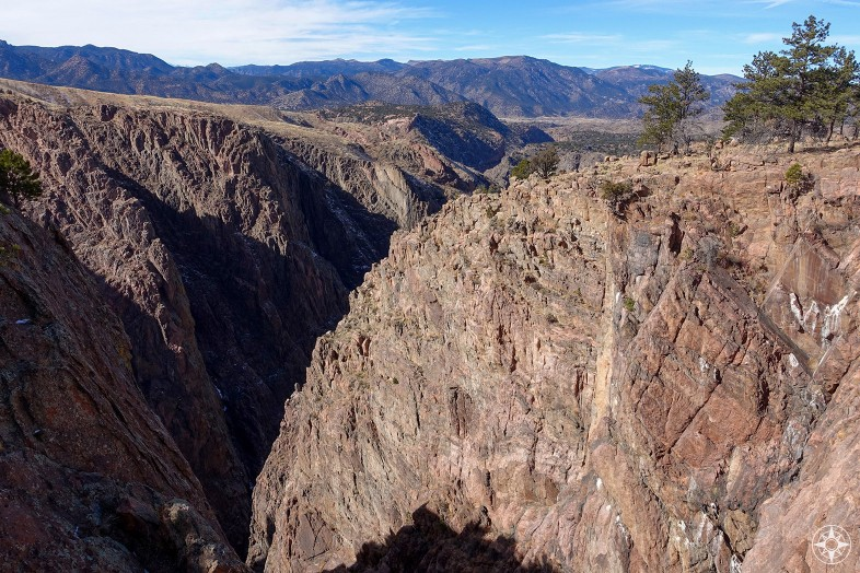 The Royal Gorge, aka Grand Canyon of the Arkansas, seen from the North Rim in Royal Gorge Bridge Park. Colorado, Rocky Mountains