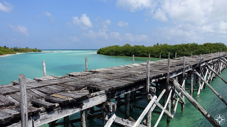 Old Boca Paila Bridge on the way to Punta Allen in Sian Ka'an, Mexico.