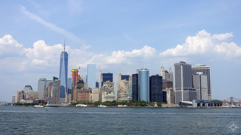 Classic Staten Island Ferry Ride View of Lower Manhattan skyline, New York, HappierPlace