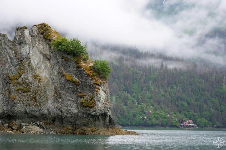 Solitary house in Kachemak Bay, Alaska