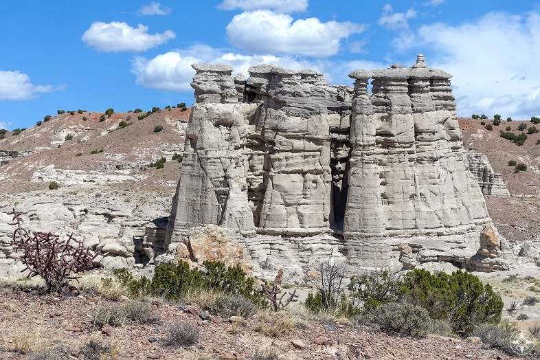 Towering rock formations of Plaza Blanca.
