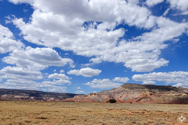 Big sky, vast land and dramatic rock formations: Ghost Ranch, New Mexico.