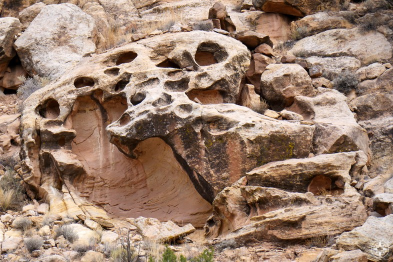 Nature creating art in extraordinary rock formations along the Rio Chama river.