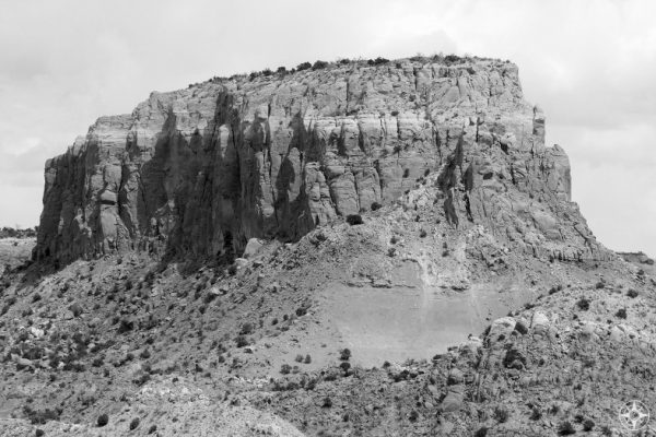 Intricate rock formations of Ghost Ranch invite black and white photography like Ansel Adams created...